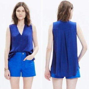Madewell Inlet Popover Sleeveless Blouse Tank Top